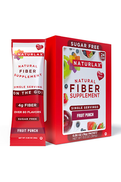 Fruit Punch Flavored Fiber Packets (24-Pack)