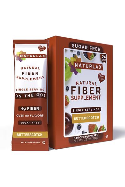 Butterscotch Flavored Fiber Packets (24-Pack)