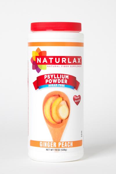 Ginger Peach Flavored Psyllium Husk Powder
