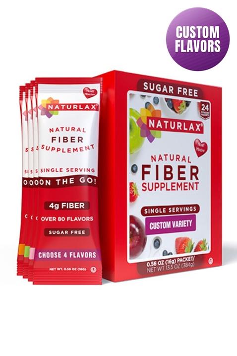 Custom Flavors Variety Fiber Packets (24-Pack)