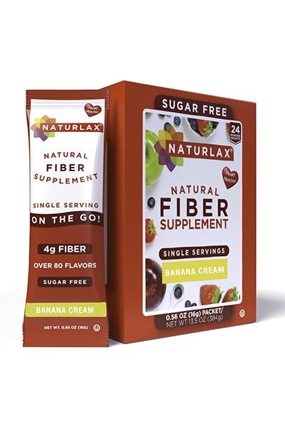 Banana Cream Flavored Fiber Packets (24-Pack)