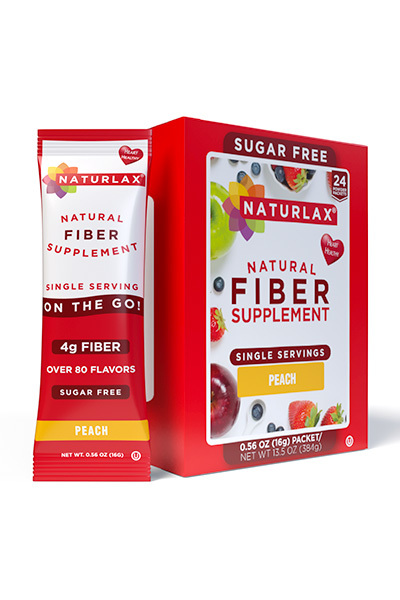 Peach Flavored Fiber Packets (24-Pack)