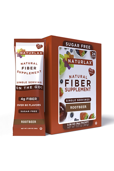 Root Beer Flavored Fiber Packets (24-Pack)