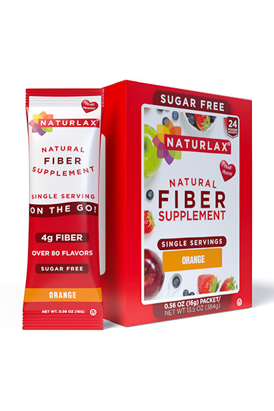 Orange Flavored Fiber Packets