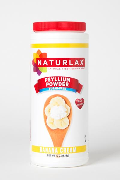 Banana Cream Flavored Psyllium Husk Fiber Powder